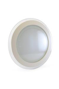 Светильник встраиваемый со стеклом 18Вт 3000К круг негерметичный