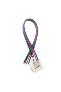 Коннектор для ленты RGB 12В 10mm провод+зажим