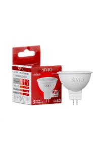 Светодиодная лампа 5вт sivio нейтральная белая GU5.3 4100K MR16
