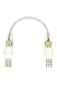 Коннектор-соединитель к светодиодному неону AVT RGB 220в smd5050 (2 разъема+2 шт. 4pin) с проводом