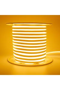 Светодиодный неон 220в желтый AVT smd2835 120led/m 7W/m герметичный