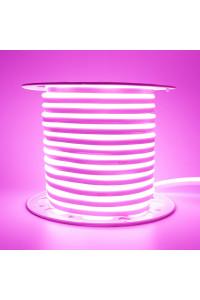 Светодиодный неон 220в розовый AVT smd2835 120led/m 7W/m герметичный