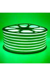 Светодиодный неон 220в зеленый smd2835 120led/m 12W/m герметичный