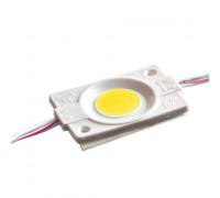 Led модуль белый теплый 12V СОВ круглый 1LED 2,4Вт IP65
