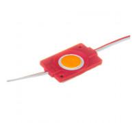 Led модуль красный 12V СОВ круглый 1LED 2,4Вт IP65