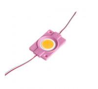 Модуль светодиодный розовый СОВ 12в 1LED 2.4Вт круг герметичный