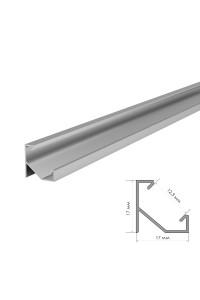 Профиль для LED лент угловой ПФ-20/1 без покрытия с полумат.рассеивателем (комплект) 2м